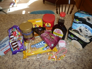 The sweets we have in our house right now.  (Nikki would consider those raisins a type of candy.)