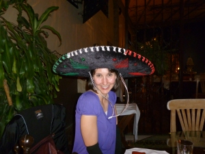 I deserve to wear this giant sombrero!