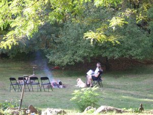Nikki and Nate in Vermont.  The fire is not ceremonial...I don't think.