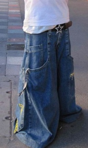 Jean skirt?  No.  This is a pair of JNCO jeans.