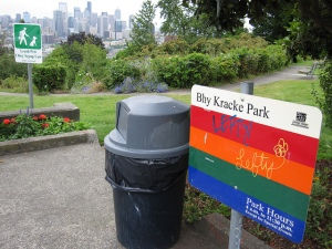 Bhy Kracke Park (say it out loud) in Queen Anne, Seattle.