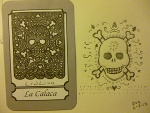 Loteria Card inspiration and my sketch