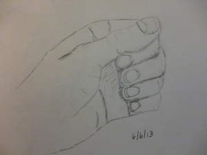 My original hand drawing.  Not bad, but definitely not as 3-D.