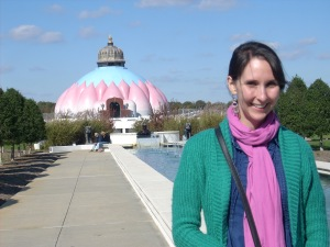 Me at Yogaville.  Note the LOTUS shrine in the background.
