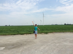 We did get off the highway in Indiana to check out these windmills!