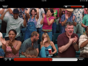 Here is a picture of me in overalls, standing behind Bradley Cooper and SJP in Failure to Launch.