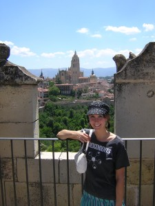 Eva in Segovia, Spain (2007)