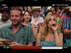 Here is a picture of me behind Bradly Cooper and Sarah Jessica Parker in Failure to Launch.