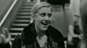 Greta Gerwig in Frances Ha has consistently messy hair throughout the film. photo credit