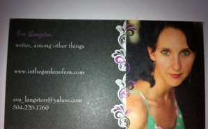 My business card.  I gave out exactly three at the conference.