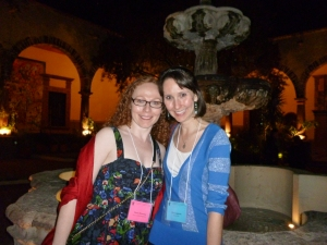 Dawn and Eva at the San Miguel Writers Conference 2013
