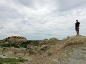 Paul in the badlands of North Dakota.