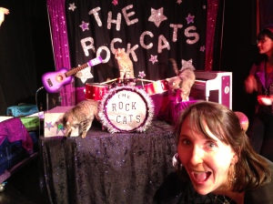 If I were going to name-drop a band in my fiction, it might be the Rockcats, pictured here.
