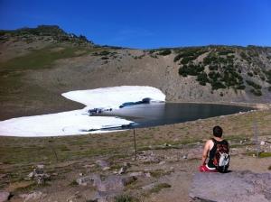 Paul at Frozen Lake.