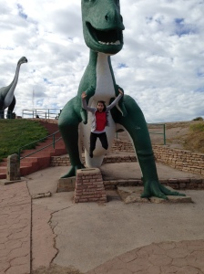 On our cross-country trip we stopped at Dinosaur Park in Rapid City, South Dakota.