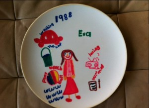 Plate I made in 2nd grade.