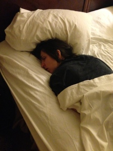 This is what I look like when I'm asleep.  Charming, huh?