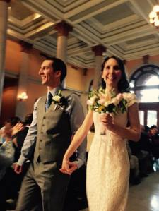 The bride and groom.