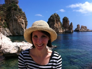 Eva in Scopello, on the northeast coast of Sicily.