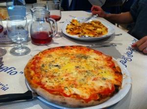 My Quattro Formagi pizza.