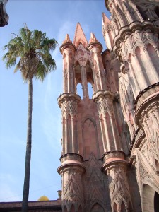 The Parroquia in the main square of San Miguel de Allende.