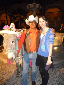 Somehow I communicated with this man and his donkey!