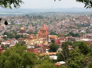 San Miguel de Allende.  Photo taken by me on one of my many walks around town.