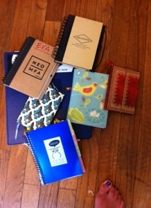 All of my old writing notebooks.