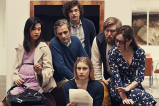 In a funny and climactic scene of Mistress America, everyone reads Tracy's story and is appalled.