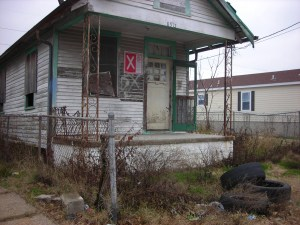 Katrina damage in the Hollygrove neighborhood of New Orleans. photo credit