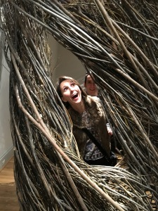 Shindig by Patrick Dougherty. I would have called this one Bird Nest.